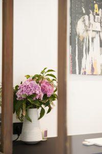 Vase de fleurs déco