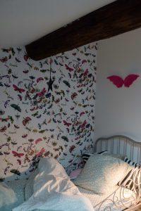 Papier peint motif papillons