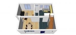 Plan d'aménagement avant du projet